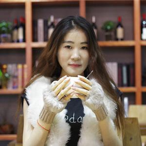 手套女冬天学生可爱女士露指韩版冬季加厚保暖打字手臂套毛线半指