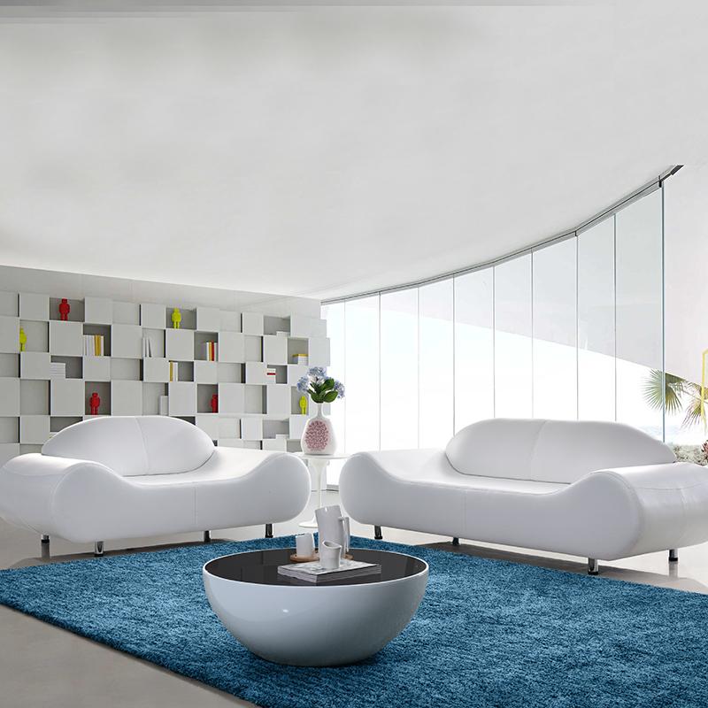 七匠 休闲小户型办公室真皮沙发设计师沙发创意简约新中式皮沙发