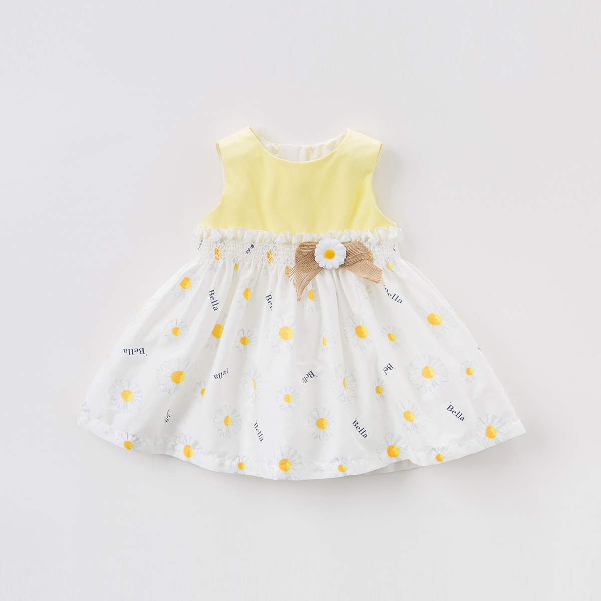 davebella戴维贝拉夏装2018夏季新款女童连衣裙 宝宝背心裙DB7540