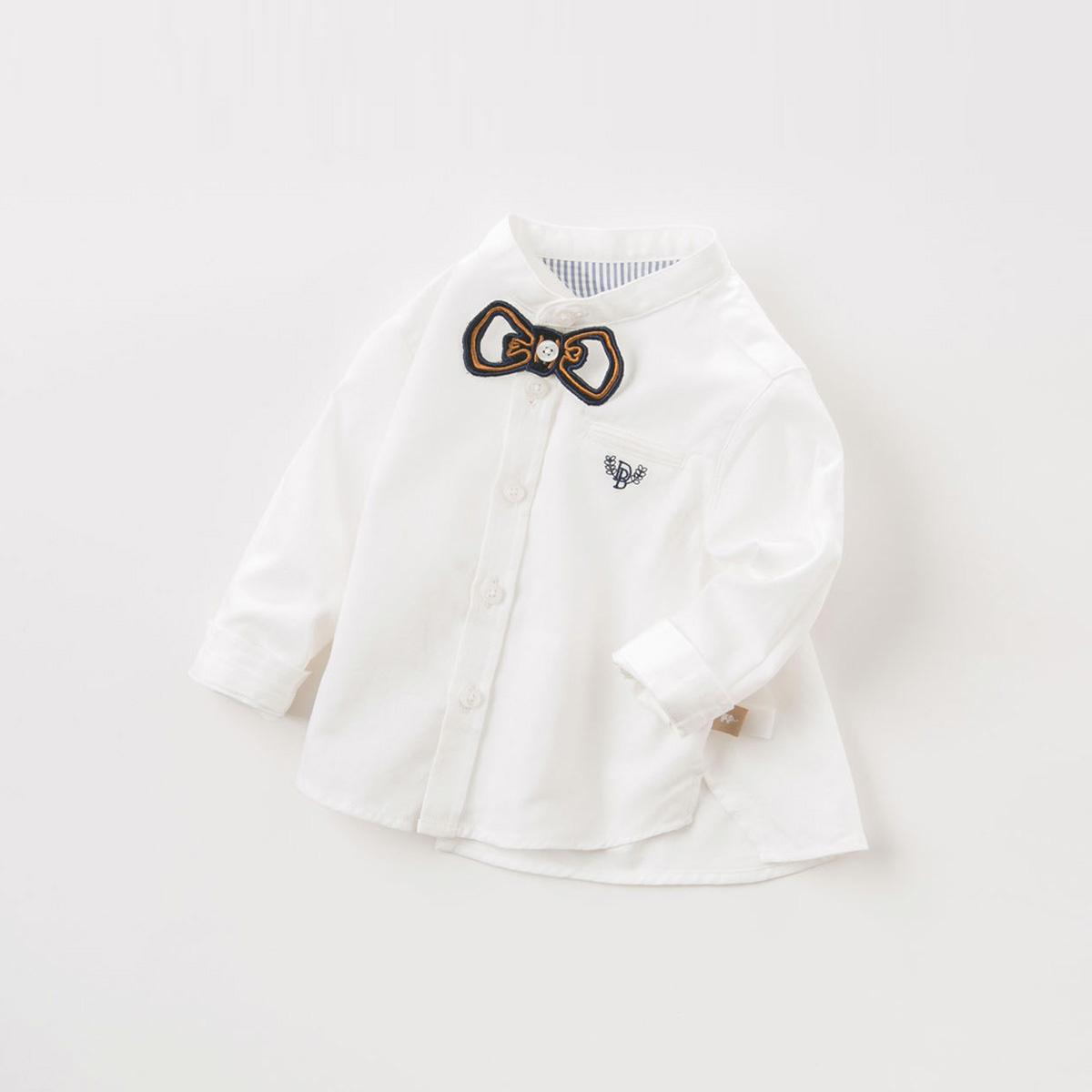 davebella戴维贝拉2018秋季新款男童衬衫宝宝全棉绅士衬衣DB9226