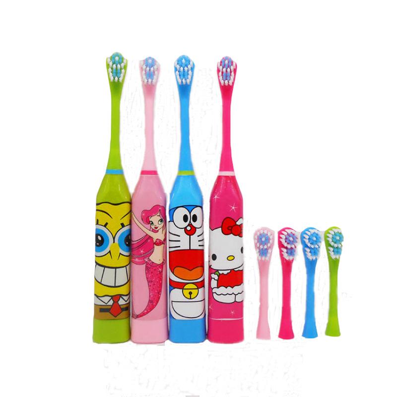 儿童智能超声波电动牙刷 创意洗漱礼品 哆啦A梦儿童卡通