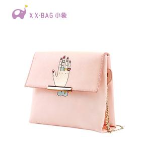 2016新款潮流斜挎包时尚小包可爱链条包方包
