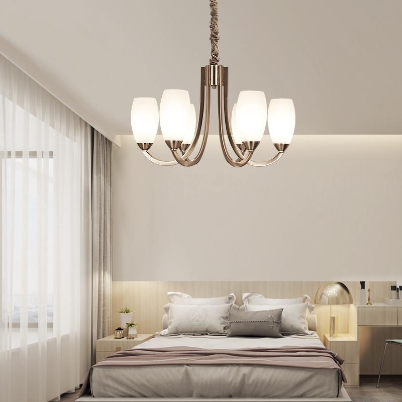 后现代简约吊灯客厅灯轻奢大气玻璃灯罩北欧创意设计师灯饰灯具