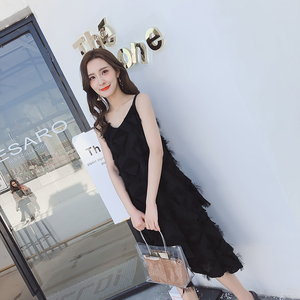 实2018拍新款沙滩显瘦气质长裙海边度假裙三亚普吉岛仙女裙