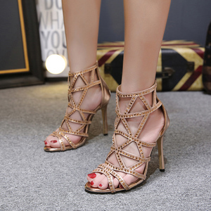 category/Shoes/Summer new water diamond crystal fish head shoes high-heeled...