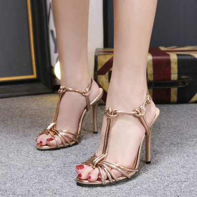ashion beaded buckle Roman sandals female summer toe comfort...