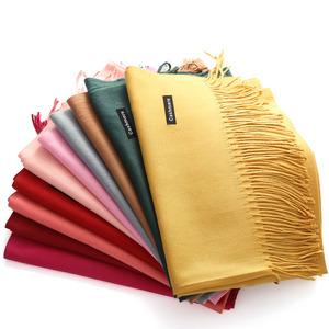 中国红围巾定制logo刺绣印字同学聚会大红色公司年会定做围脖披肩
