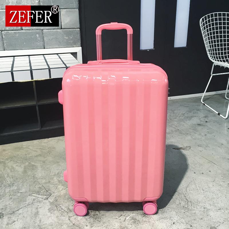 行李箱女拉杆箱20寸密码箱小清新皮箱22万向轮24大学生网红旅行箱