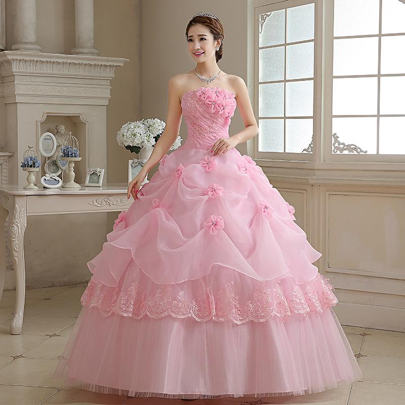 Light wedding dress 2018 new Korean bride red dream princess ...