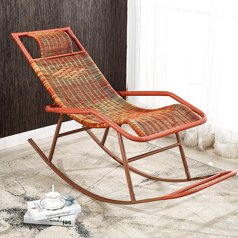 三唐摇椅藤椅成人午睡躺椅客厅阳台懒人椅逍遥椅老人休闲摇摇椅