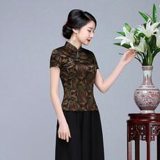 Блузка в китайском национальном стиле Deep