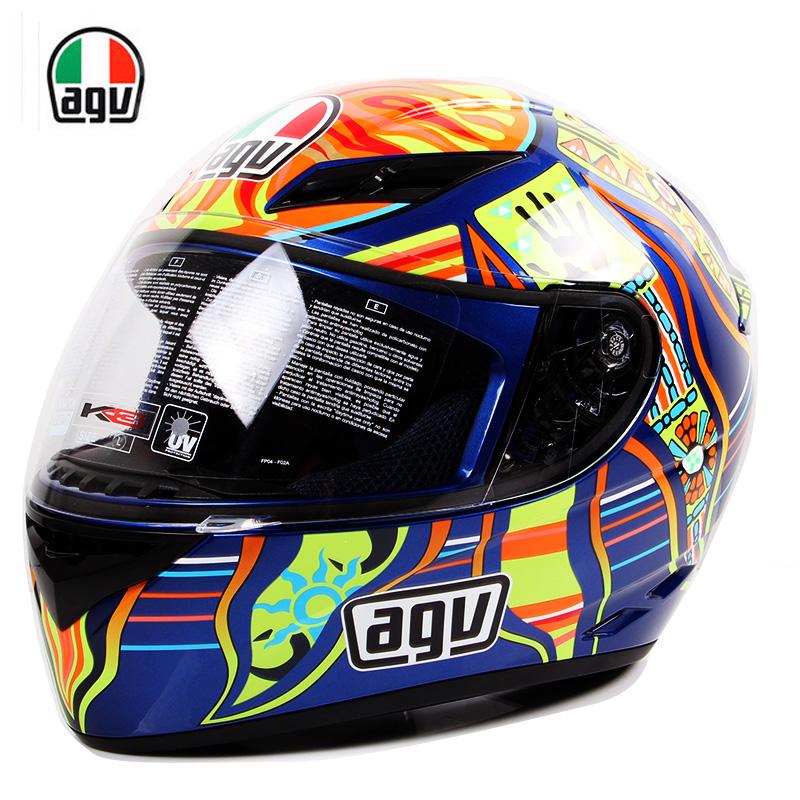 正品意大利AGV K3摩托车头盔全盔四季机车赛车跑盔男女agv头盔冬