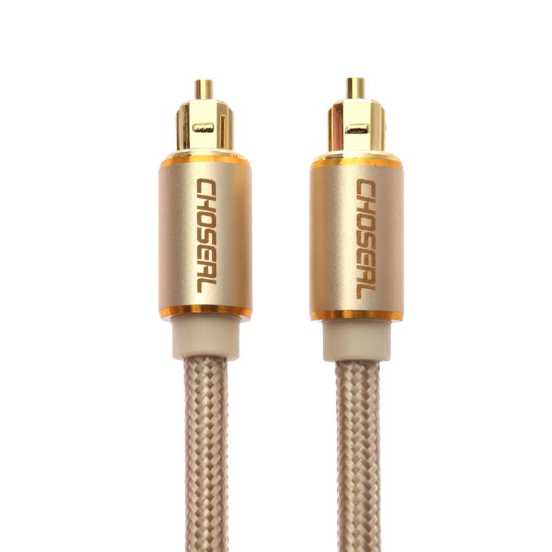 Choseal-秋叶原 DH517光钎音频线音响功放发烧数码数字光纤线方口