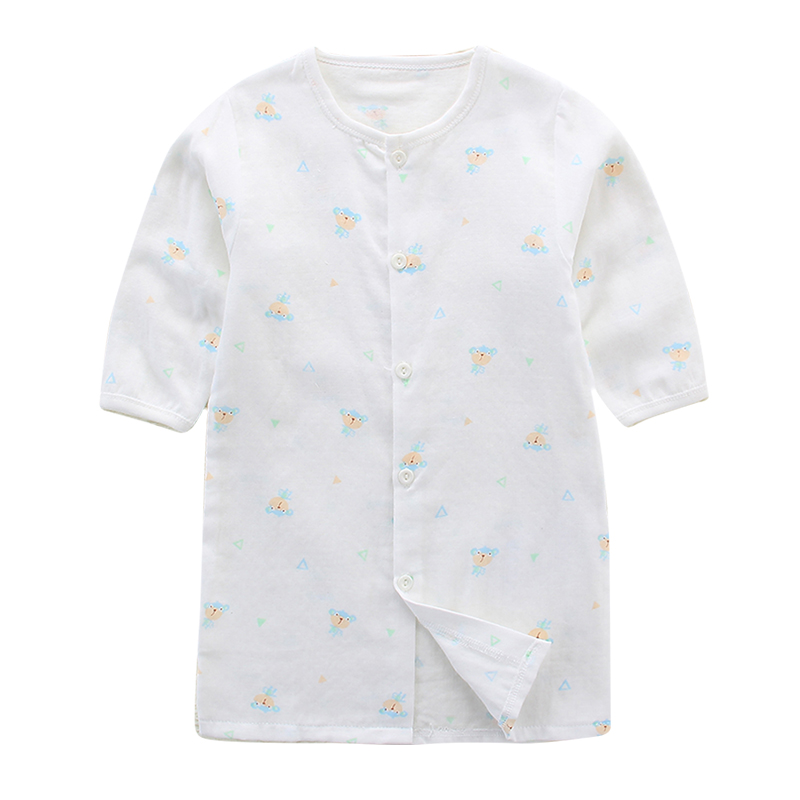 Baby nightgown summer baby gauze sleeping clothes short-sleeved ...