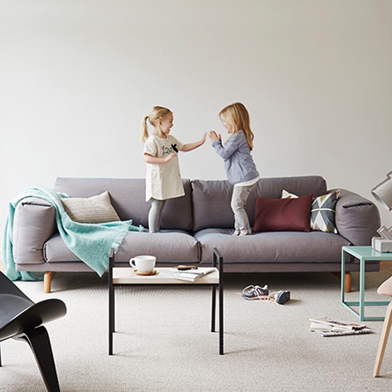 日式简约北欧三人位乳胶布艺沙发小户型实木家具沙发防水防污