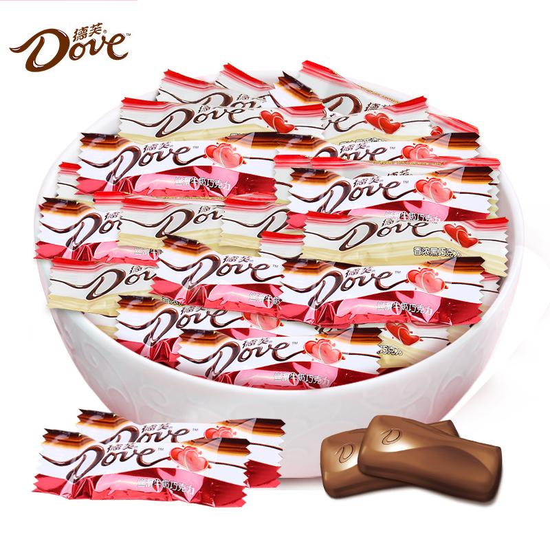 德芙牛奶香浓黑巧克力1斤装