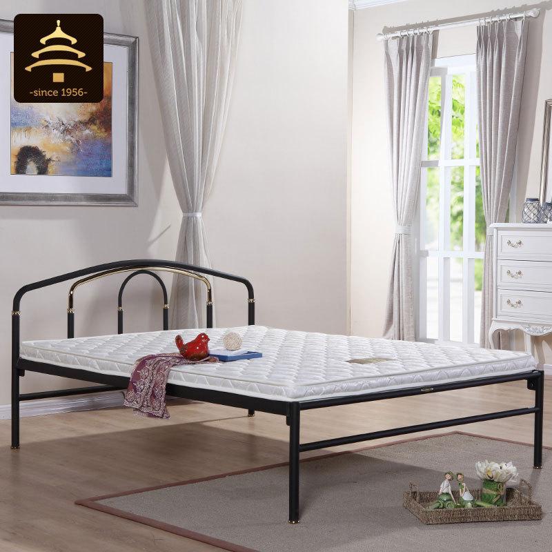 天坛铁床 简易铁架床铁艺双人床 成人简约现代钢管床1.5米m铁艺床
