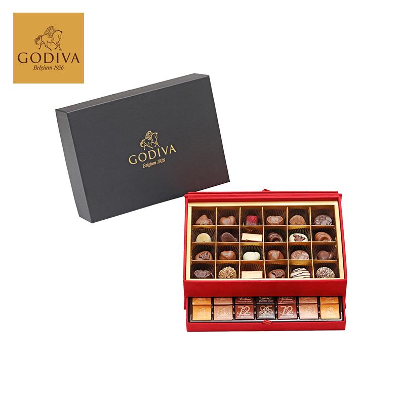 GODIVA歌帝梵巧克力优选礼盒(59颗装)(红色包装)