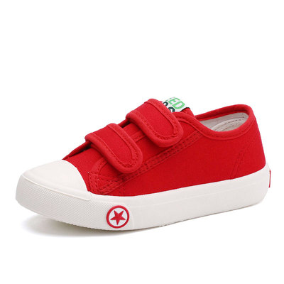 The spring of 2017 male children's canvas shoes shoes shoes casual shoes for virgin low permeable solid baby child