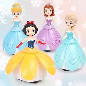 儿童玩具女孩跳舞旋转公主万向车灯光音乐礼物宝宝爱艾莎冰雪奇缘