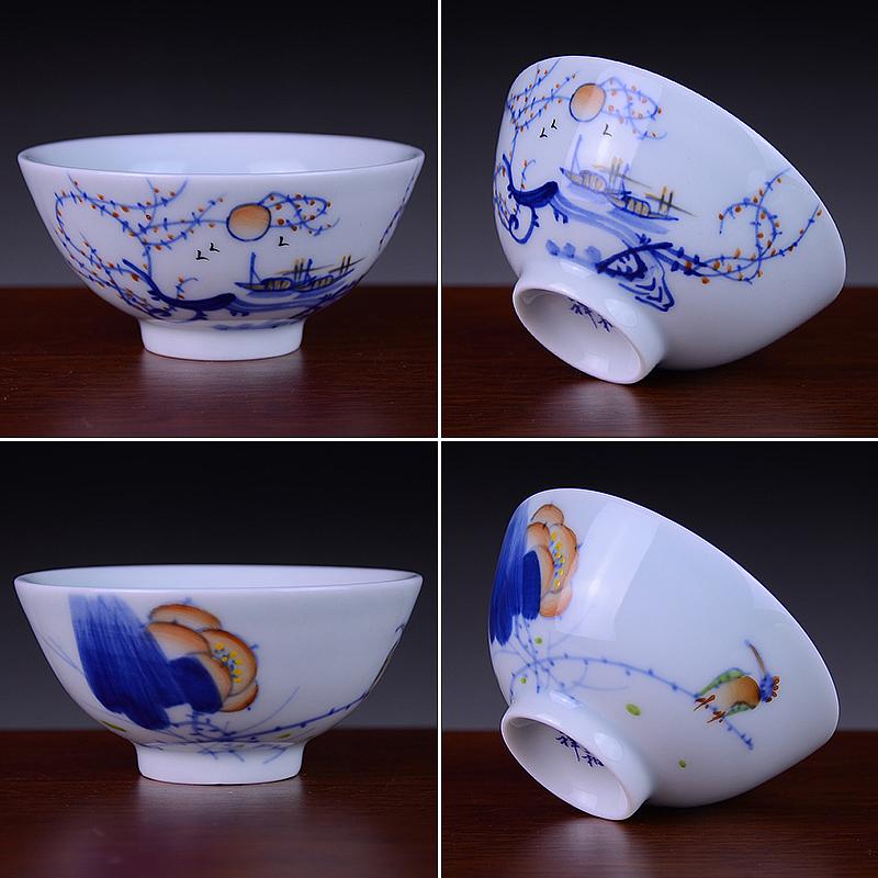 景德镇手绘青花茶杯