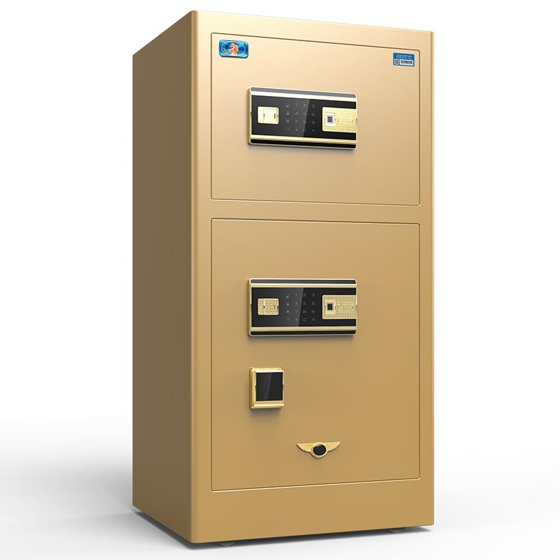 虎牌保险柜家用小型指纹密码80cm双门wifi智能保险箱办公大型1米