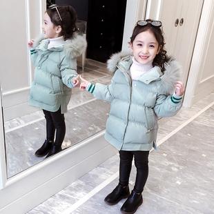 女童棉衣冬装2018新款韩版女孩洋气童装加厚外套棉袄儿童羽绒棉服