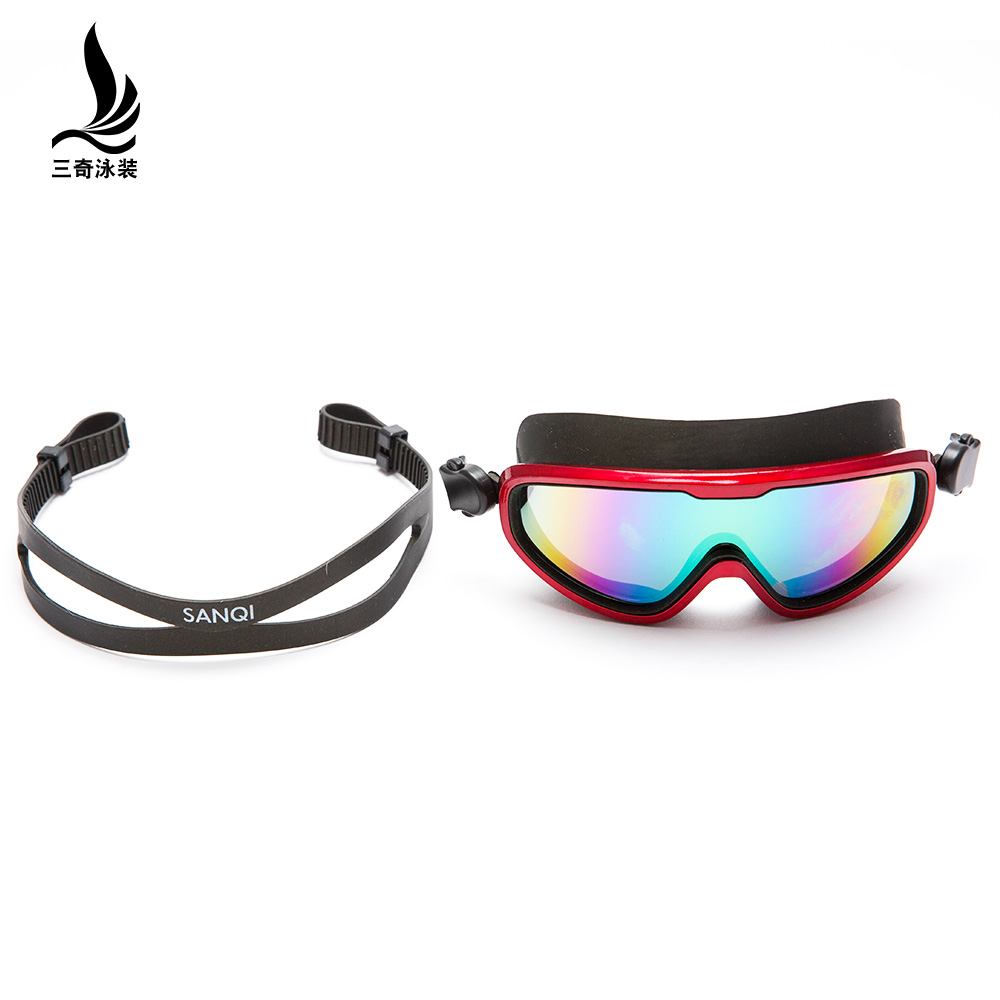三奇泳镜女士男士通用高清防水防雾大框游泳眼镜竞速成人潜水装备