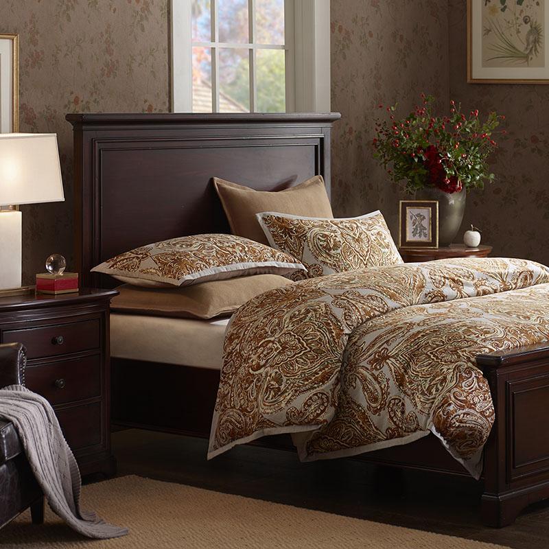 Harbor House美式全棉磨毛印花三件套家纺床上用品被套枕套