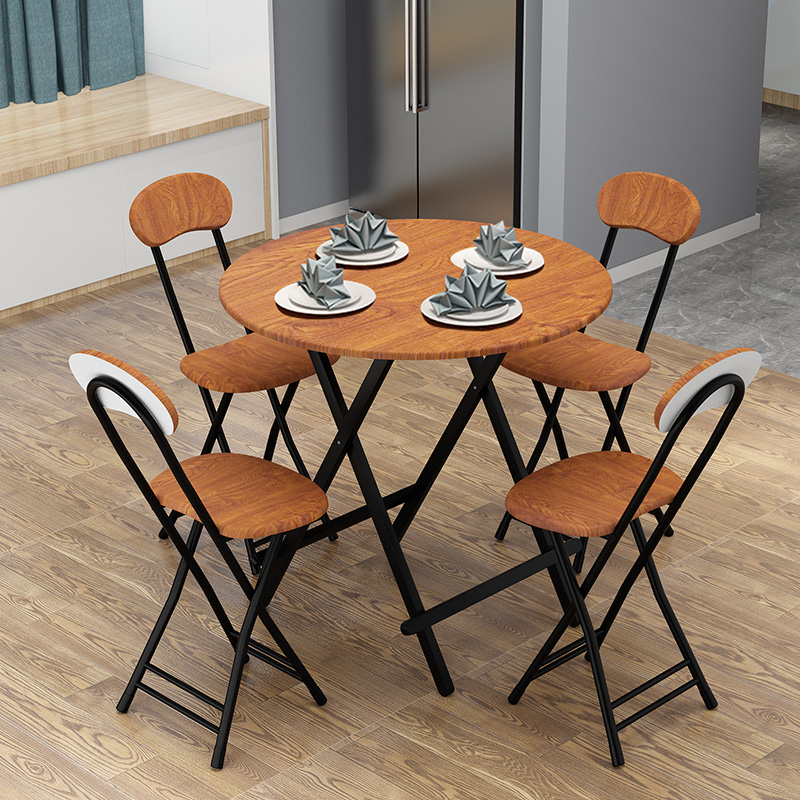 Table folding table home eating table stall table outdoor folding table portable round table balcony simple small table