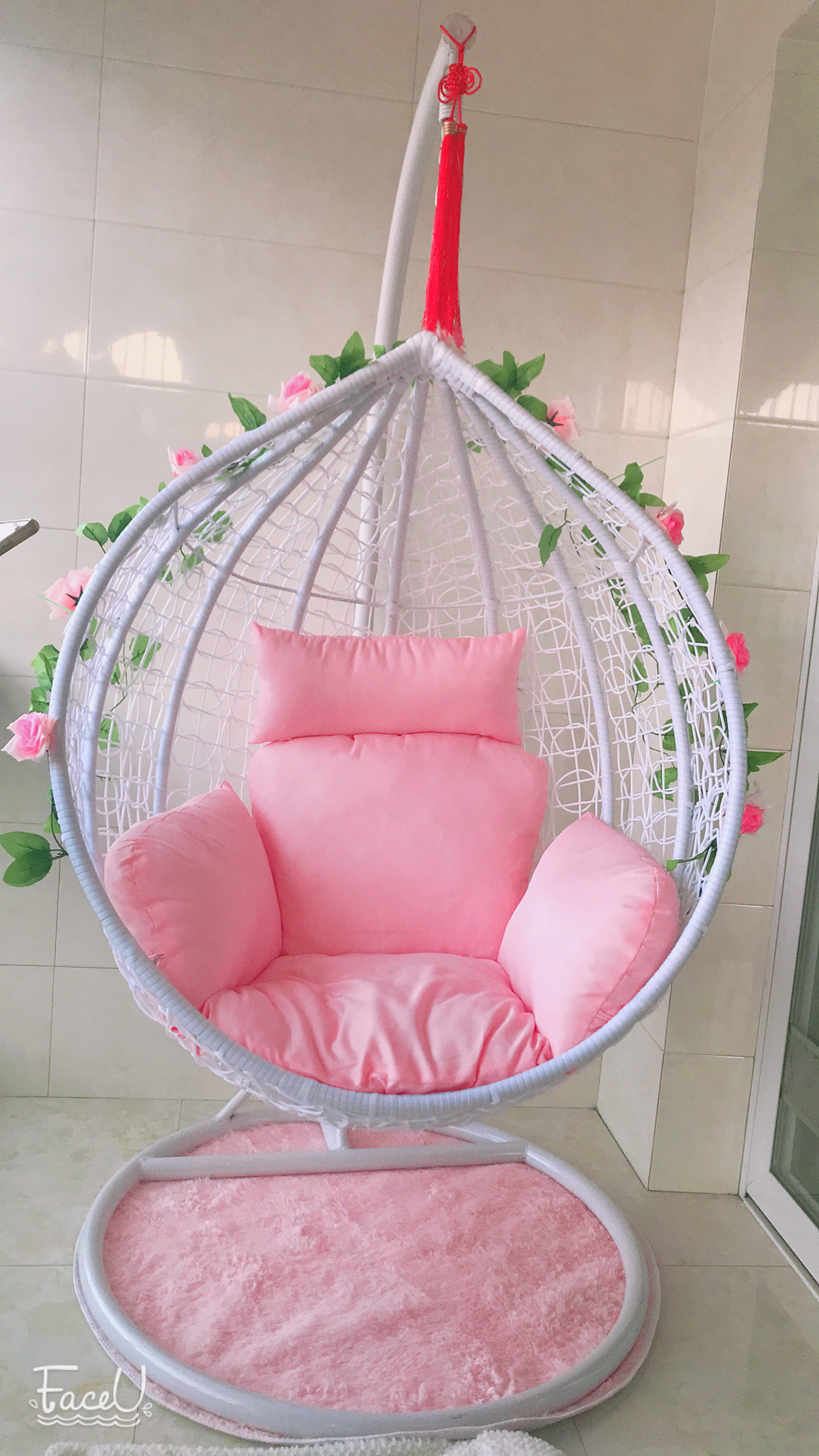ring support pin upper hanging advanced bed round with backrest floating swing for design hammock