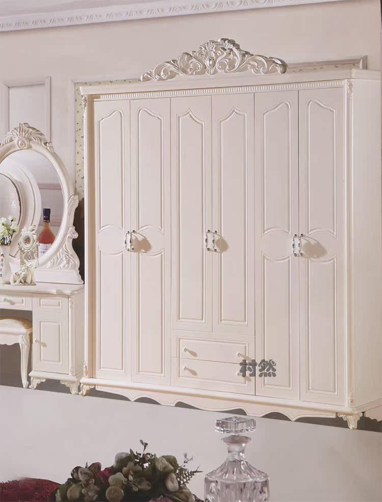 00元】欧式家具套装住宅家具卧室成套家具六件套套房衣柜床梳妆台组合图片