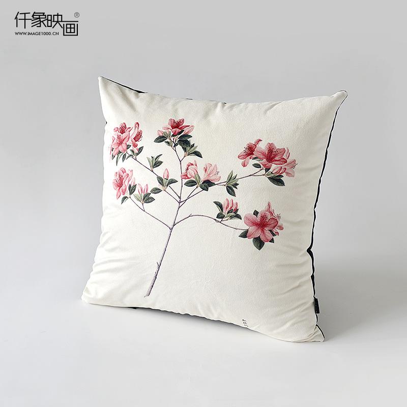 仟象映画红杜鹃艺术抱枕TM-PL0297