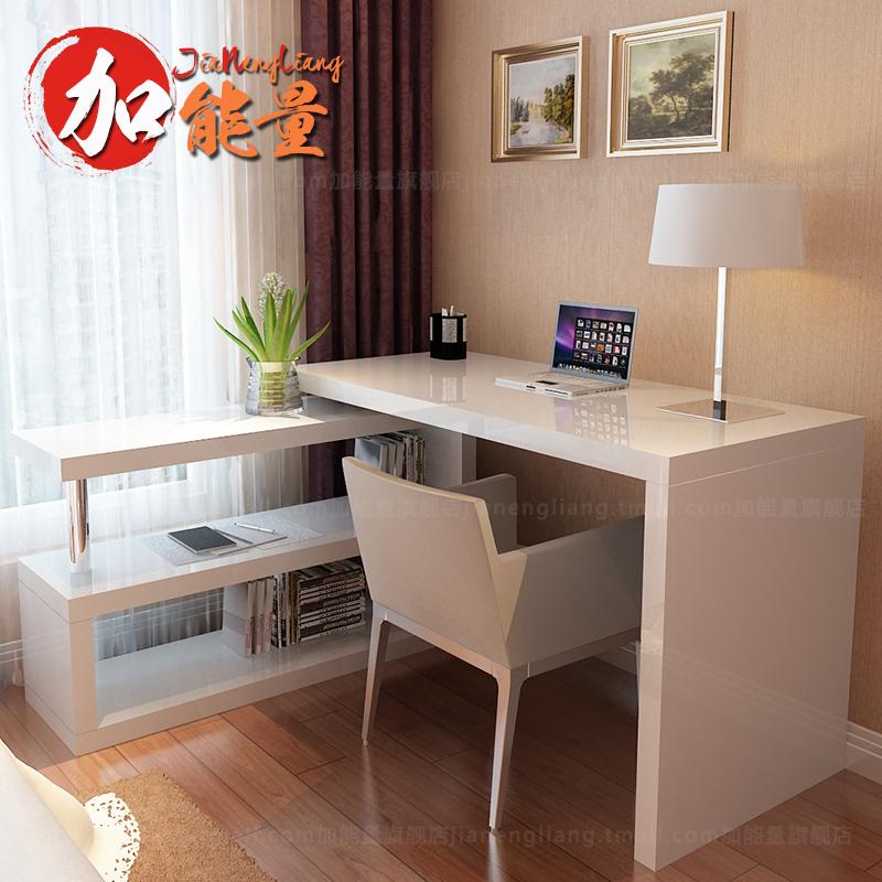 加能量电脑桌简约烤漆台式转角书桌J1808BD