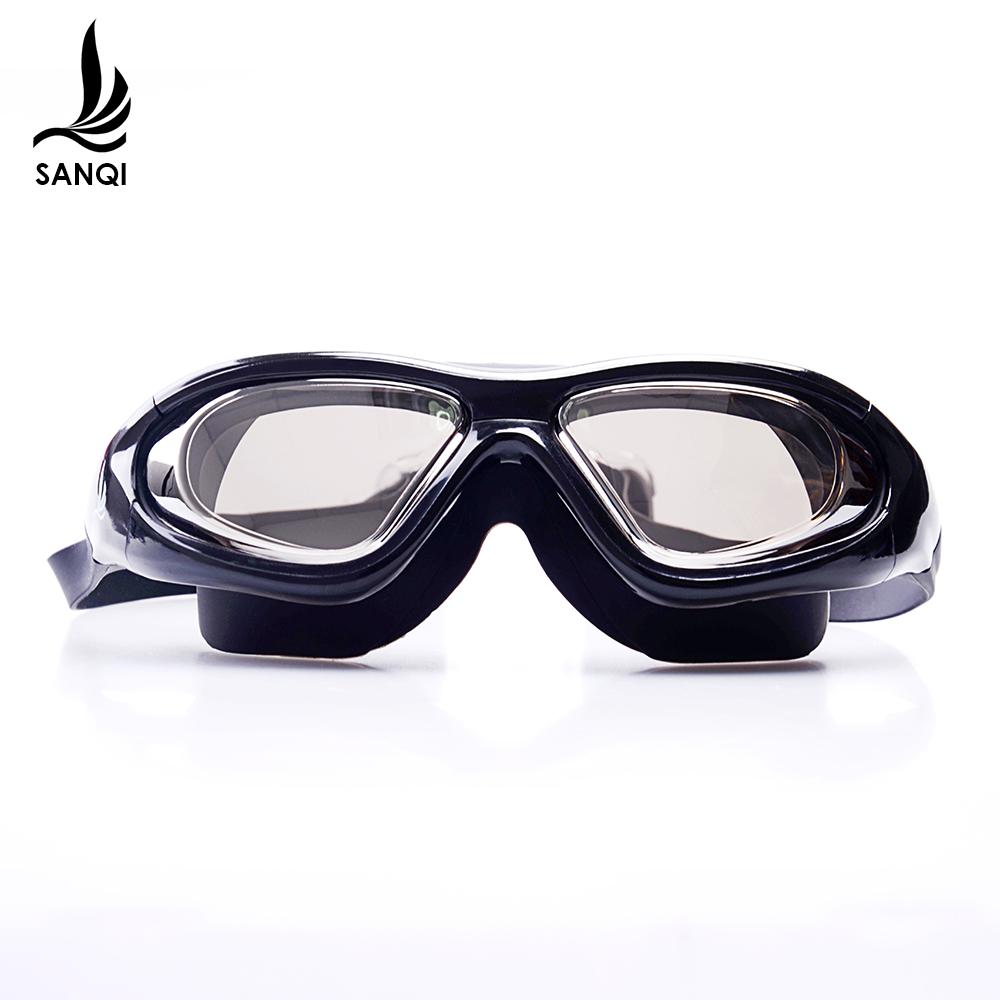 三奇泳镜成人平光电镀高清大框防水防雾游泳眼镜男士女士通用装备