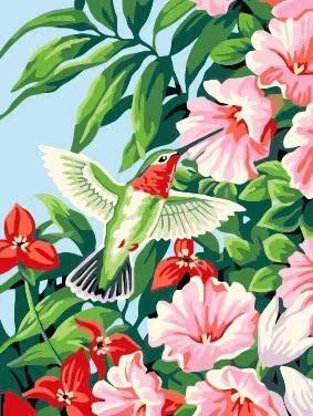 佳彩天颜diy彩绘雏鸟装饰油画