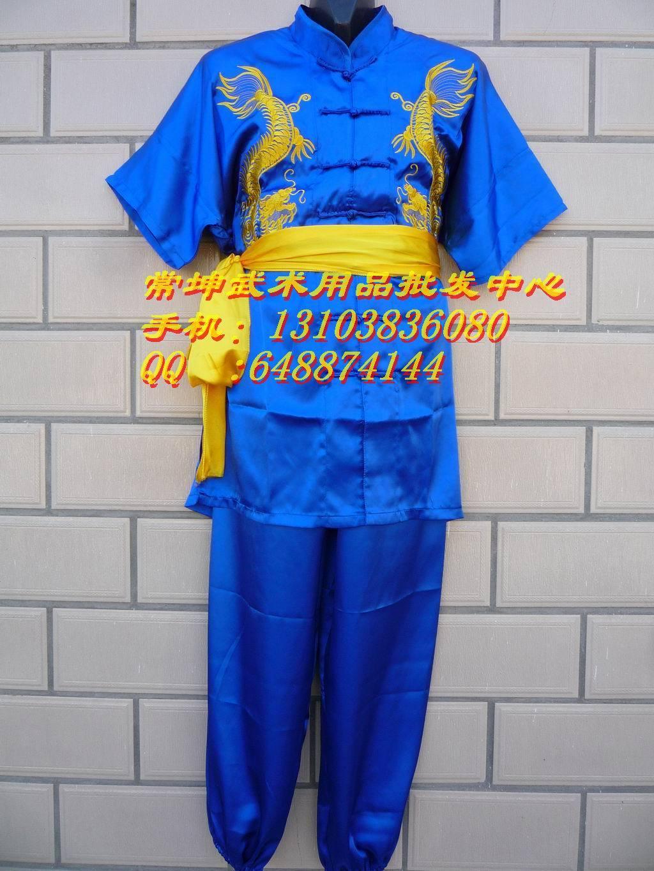 форма для Тай-Чи Короткий рукав вышивкой Дракон боевых искусств Тай-Чи Одежда/Одежда/Одежда/костюм/стадии кунг-фу ребенок взрослый боевых искусств костюмы