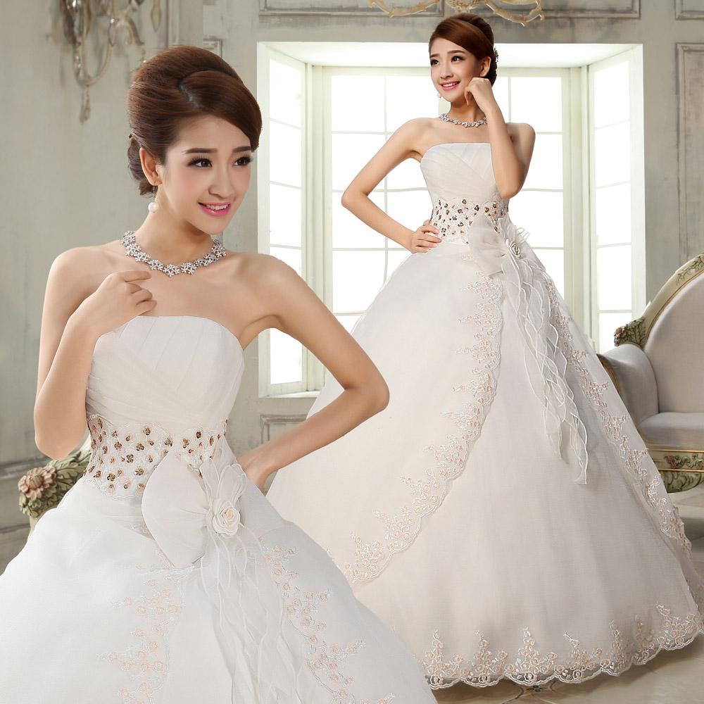 新娘结婚婚纱礼服2018春季新款抹胸韩版公主款显瘦修身齐地礼服女