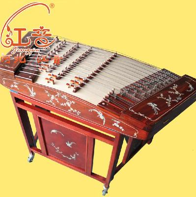 江音6628l-a紫檀贝雕扬琴402扬琴乐器扬琴入门送琴竹琴弦配图片