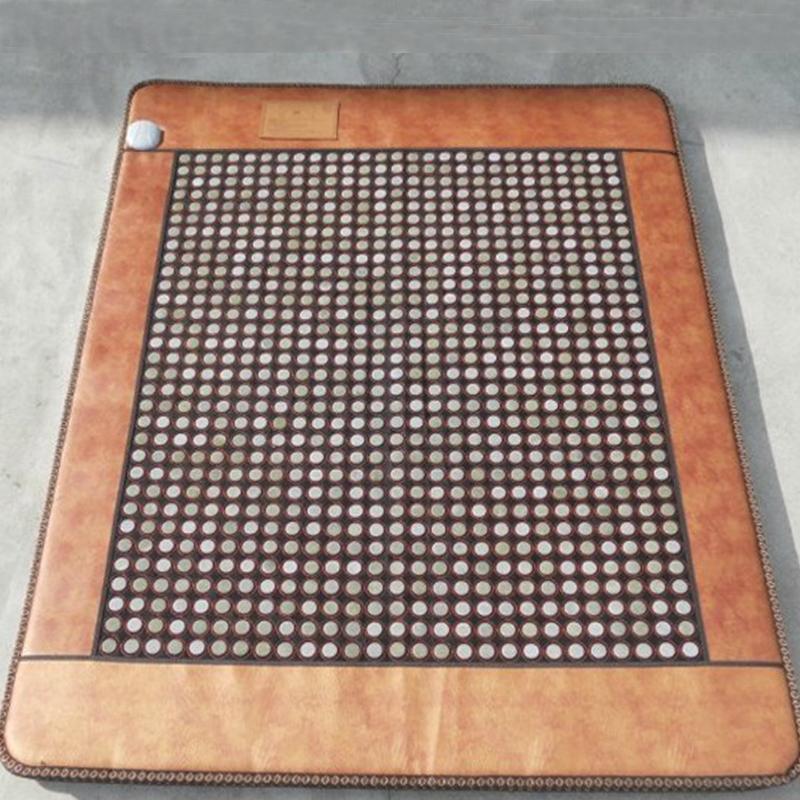 康泰缘玉石锗石磁石托玛琳双温双控砭石远红外线理疗加热赭石床垫