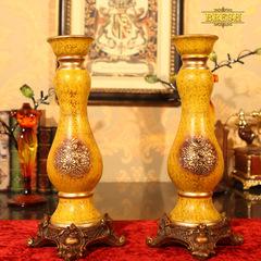 BRESH欧式复古陶瓷皇家浮雕欧式烛台英伦伯爵摆件装饰D109