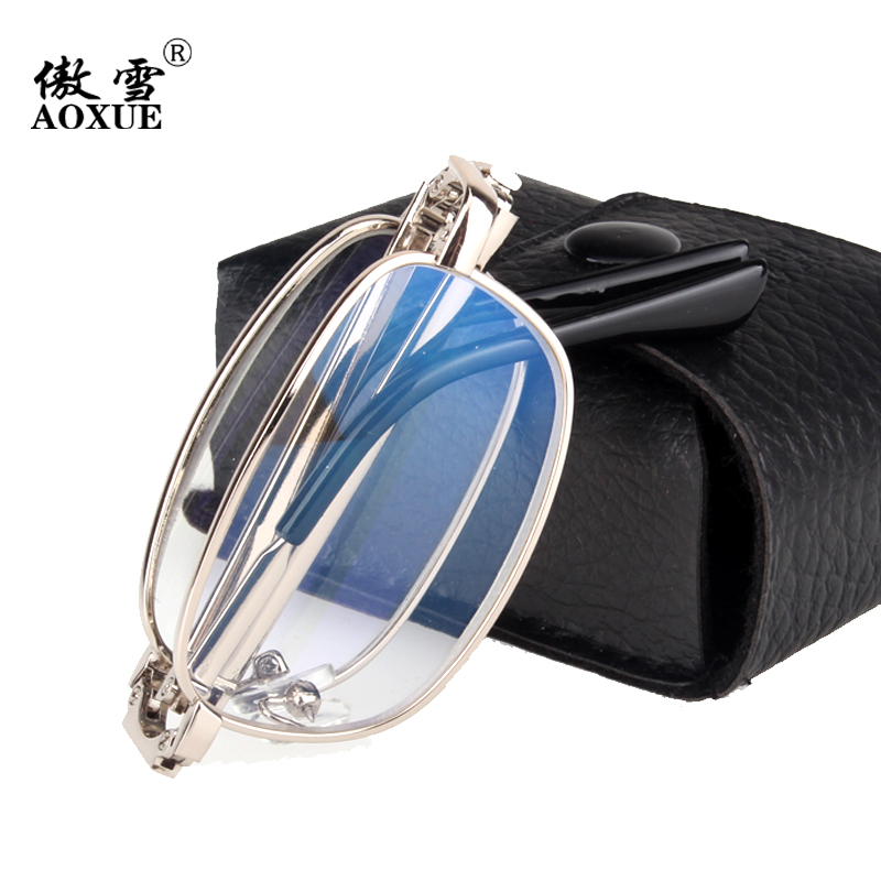 折叠老花眼镜老光 舒适远近两用老花镜 时尚超轻男女式花镜150度