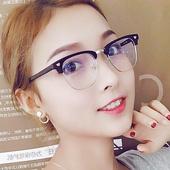 金学仕复古眼镜框男潮半框大脸板材眼镜架明星款可配近视光学镜女
