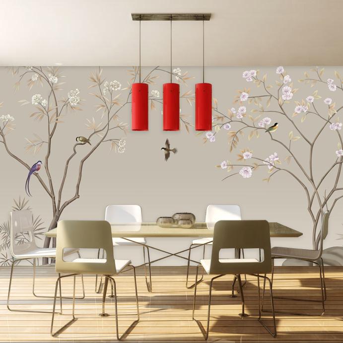 塞丽雅简约现代3d立体墙纸ZS286 花鸟