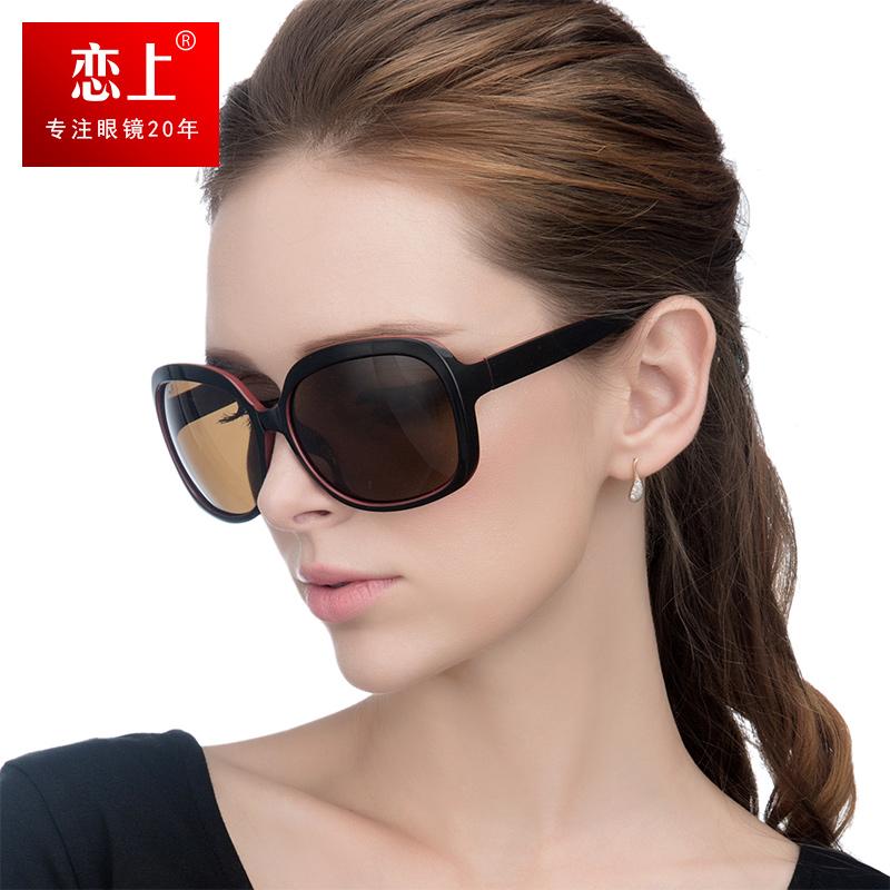 恋上超轻太阳镜女潮显瘦偏光司机镜大框个性眼镜圆脸开车驾驶墨镜