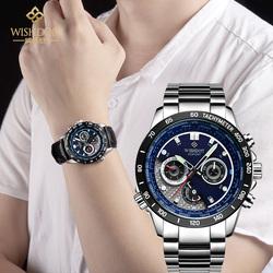威思登 男表石英手表 户外运动学生防水潮流夜光精钢皮带男士手表