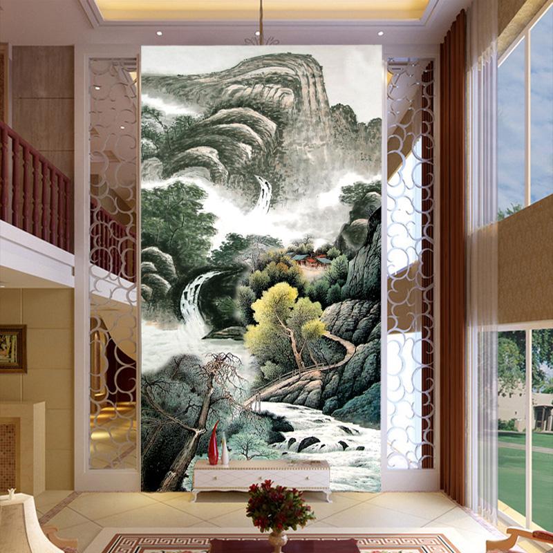艺舍国画山水大型壁纸水墨风景