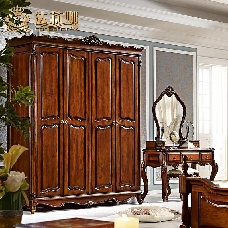 法莉娜法式实木衣柜4门d22
