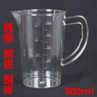 亚克力塑料量杯500ml带刻度PC量壶2000ml 实验室耐热奶茶店用