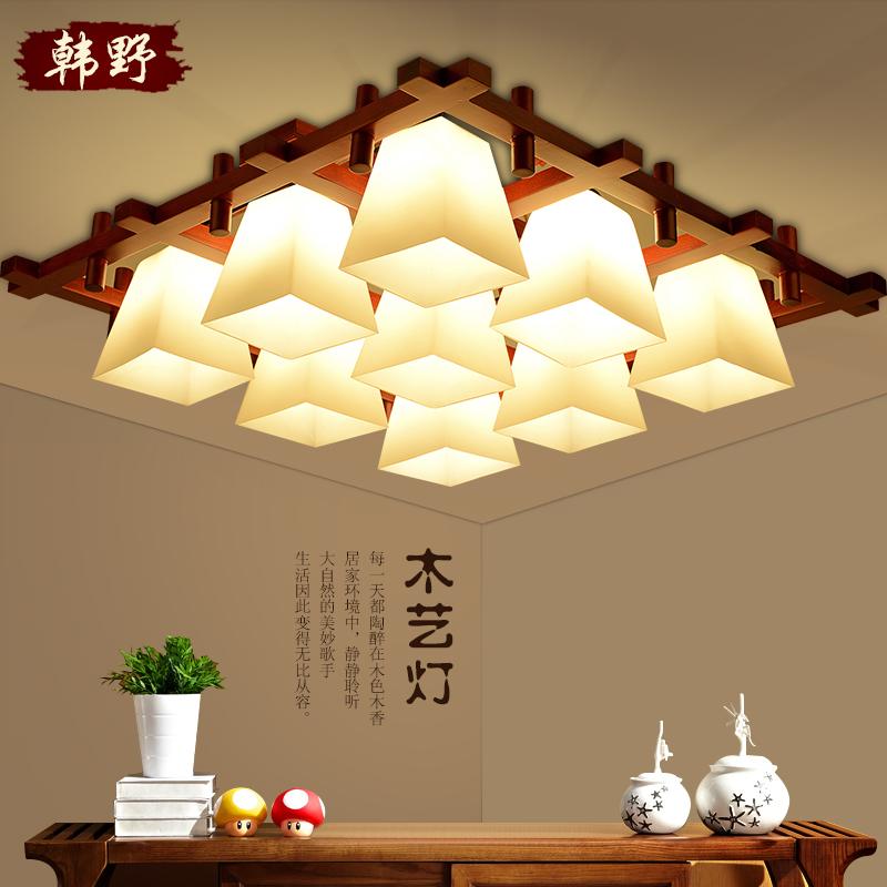 韩野长方形中式吸顶灯9506
